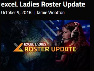 excel ladies roster